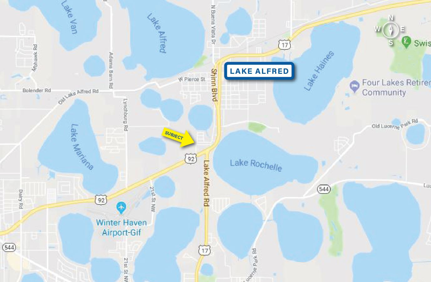 0 Us Hwy 92 West In Lake Alfred, Florida | Coldwell Banker - Lake Alfred Florida Map