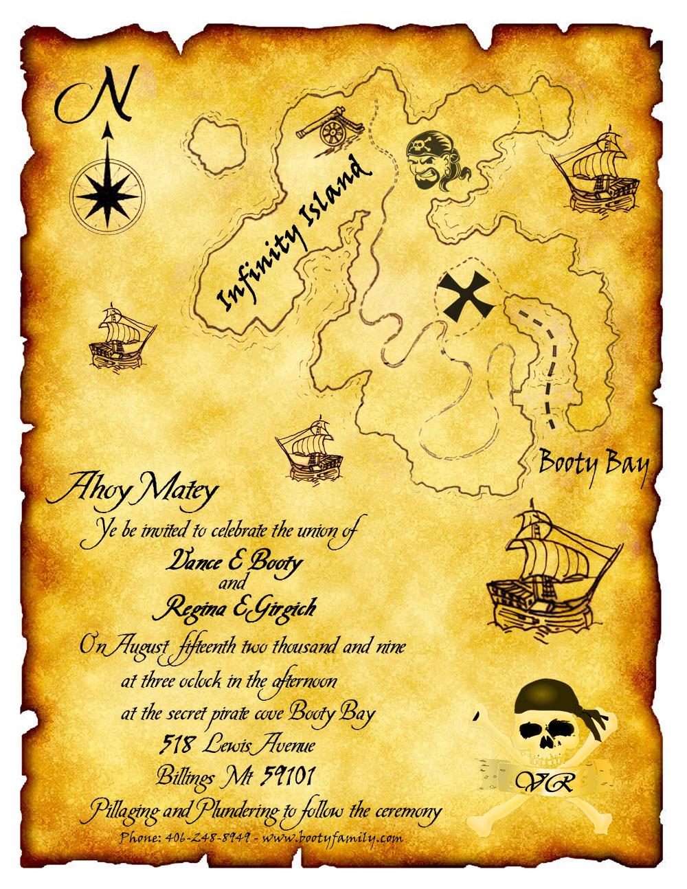 023 Template Ideas Treasuremap Beach Wedding Invitation ~ Ulyssesroom - Printable Maps For Wedding Invitations Free