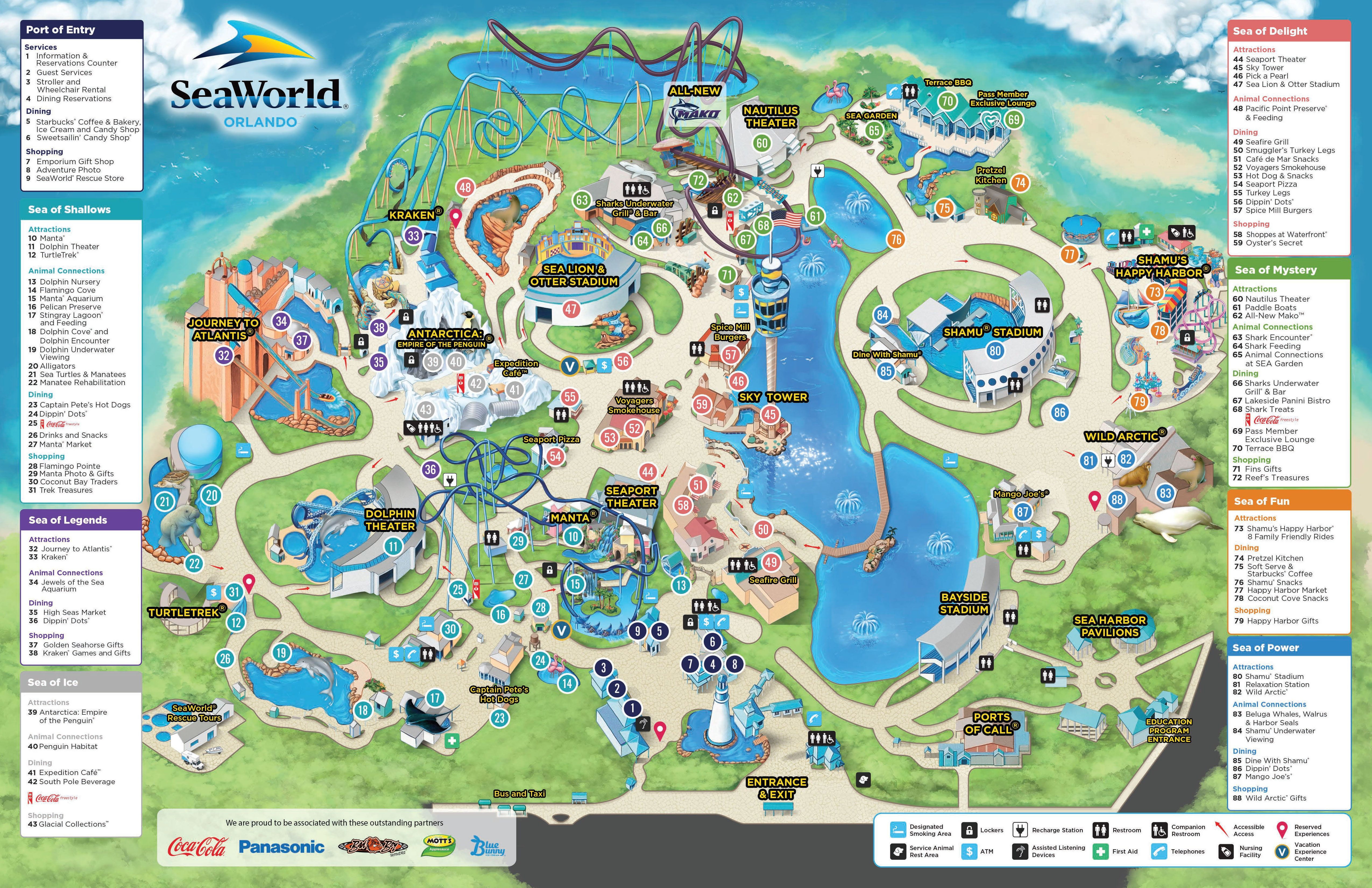 09_14_15_Park_Map | Favorite Places & Spaces | Pinterest | Orlando - Seaworld Map Orlando Florida