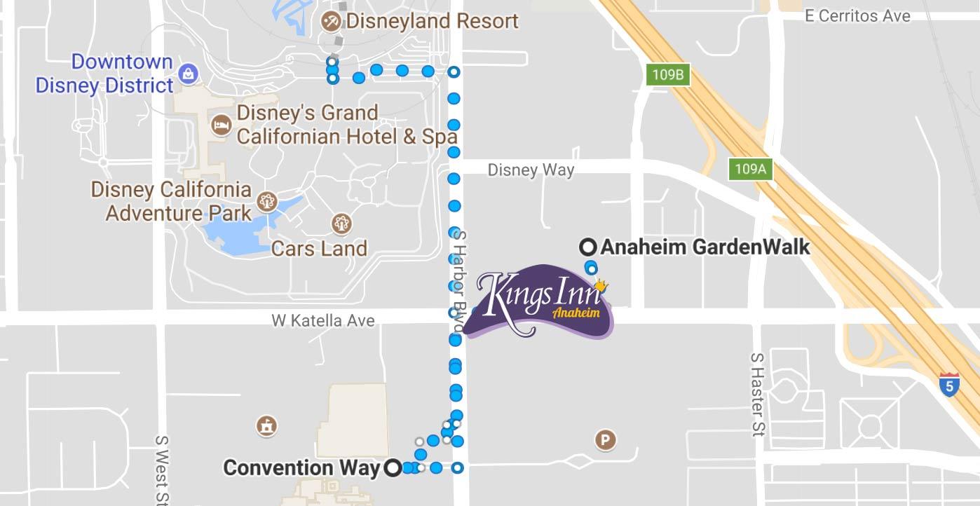 1 Best Value Hotel 🚶walking Distance To Disneyland & Conventions! - Map Of Hotels Around Disneyland California