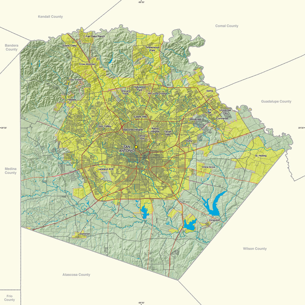 1-Site Offers Gis Resources For Texas Counties - Texas Elevation Map By County