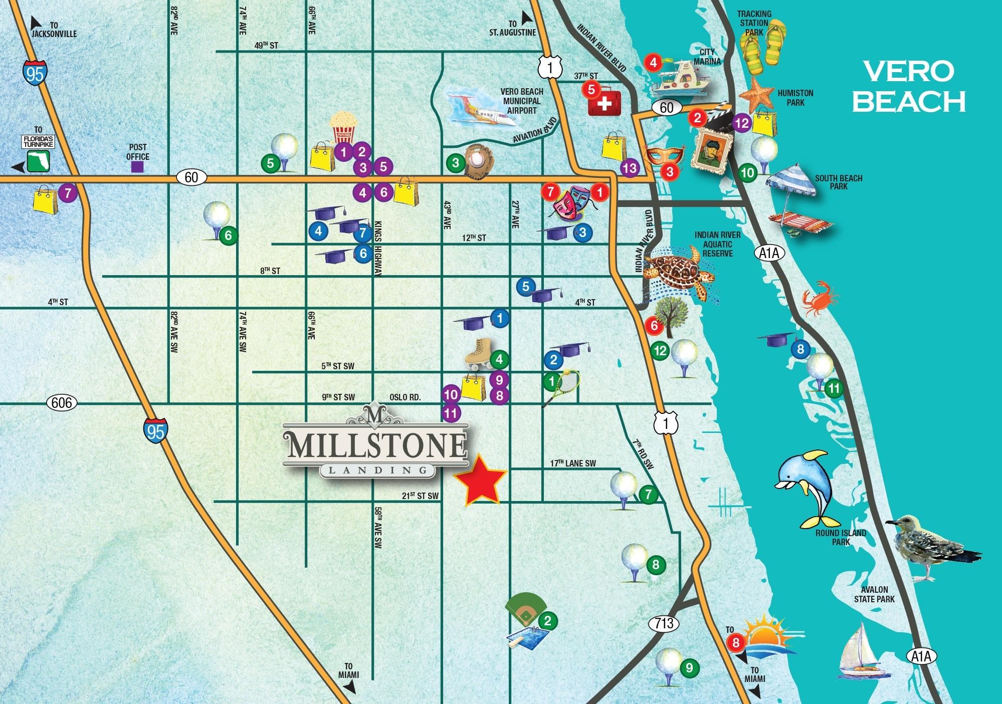 10 Hottest Vero Beach Florida Map 2018   Beach Destination - Where Is Vero Beach Florida On The Map