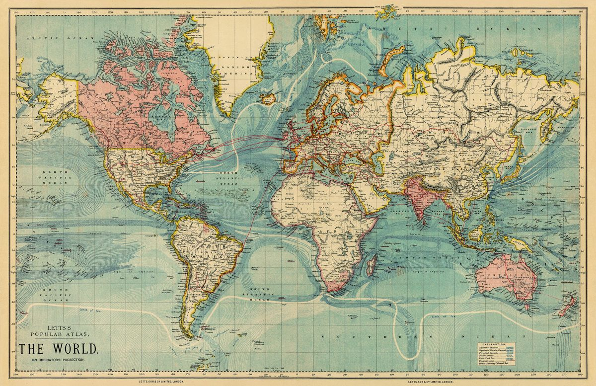 10 Things Traveling Has Taught Me | Travel ✈ | Pinterest | World - Vintage World Map Printable