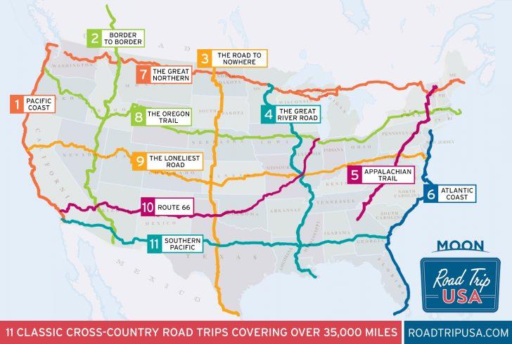 Best California Road Trip Map