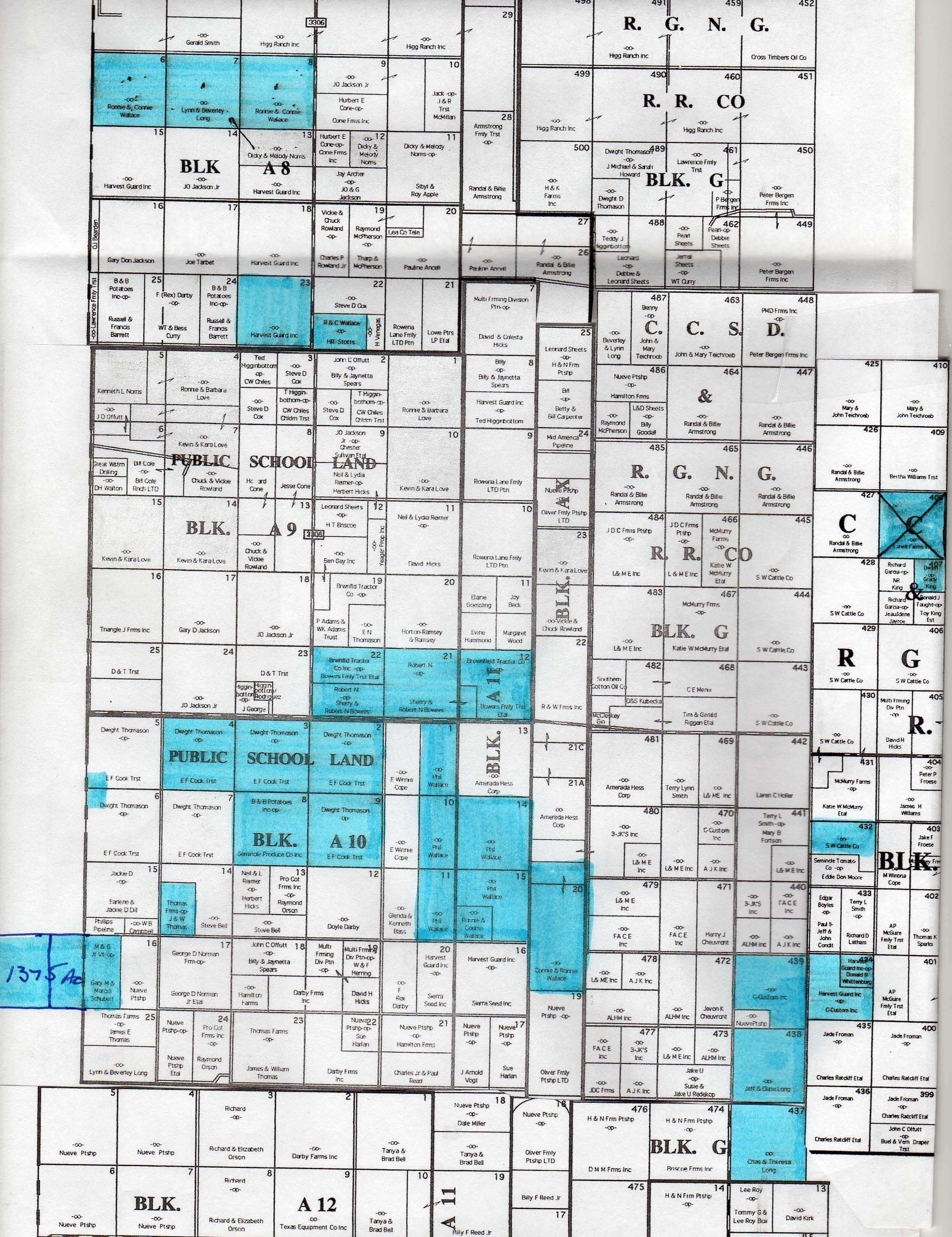 11000 Acres In Gaines County, Texas - Yoakum County Texas Map