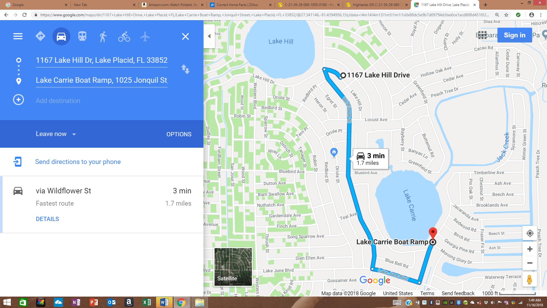 1167 Lake Hill Dr, Lake Placid, Fl 33852 | Realestate - Lake Placid Florida Map