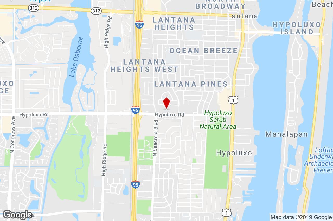 1255 Hypoluxo Road, Lantana, Fl, 33462 - Economy/limited Service - Lantana Florida Map