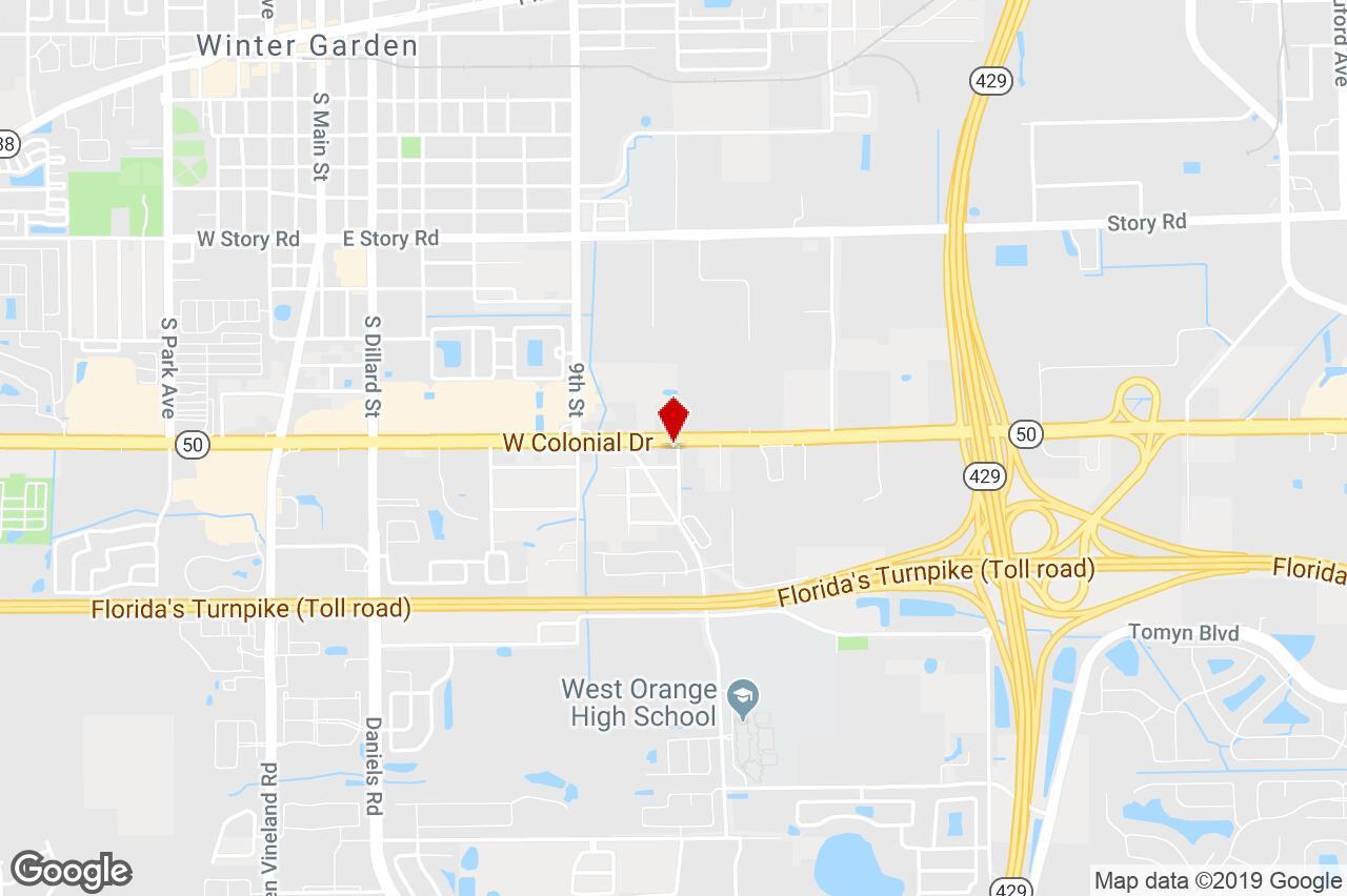 12802 West Colonial Drive, Winter Garden, Fl, 34787 - Manufacturing - Winter Garden Florida Map