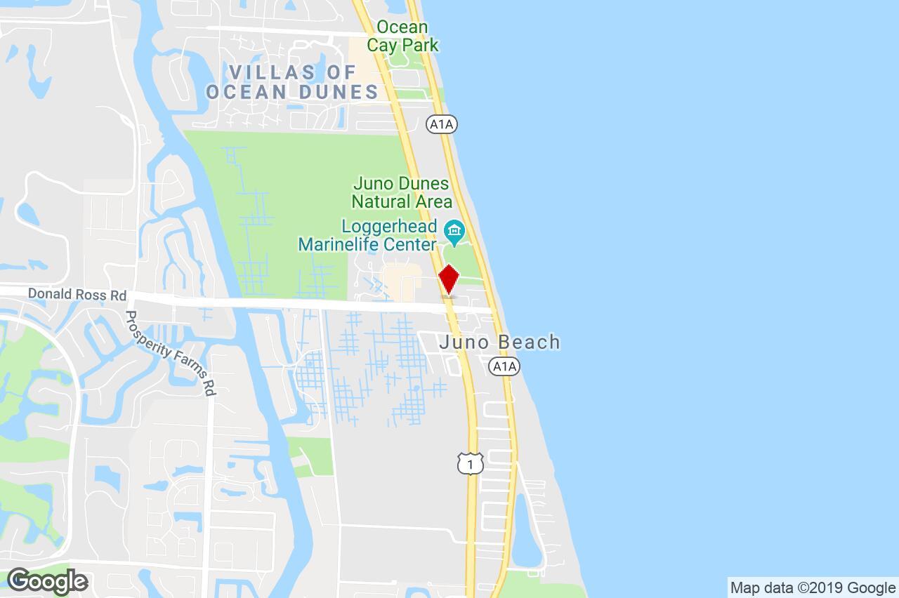14050 Us Hwy 1 Suite F, Juno Beach, Fl, 33408 - Strip Center - Juno Beach Florida Map