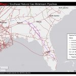 1448×1123 Map Of Southeast Mid Stream Natural Gas Pipelines, In   Gas Availability Map Florida