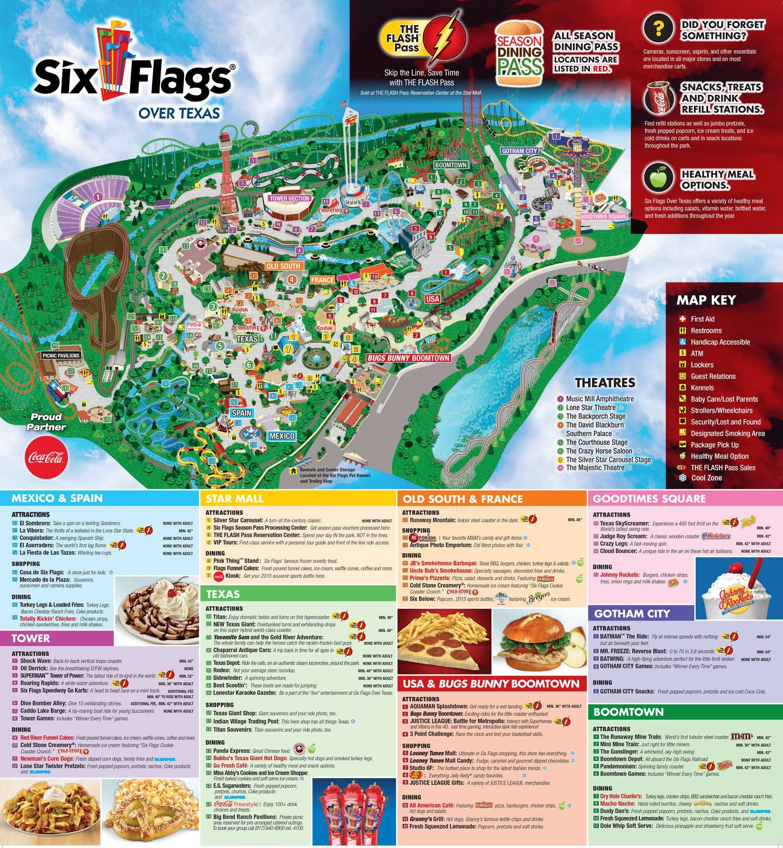 16 Six Flags Over Texas Map | Settoplinux - Six Flags Over Texas Map