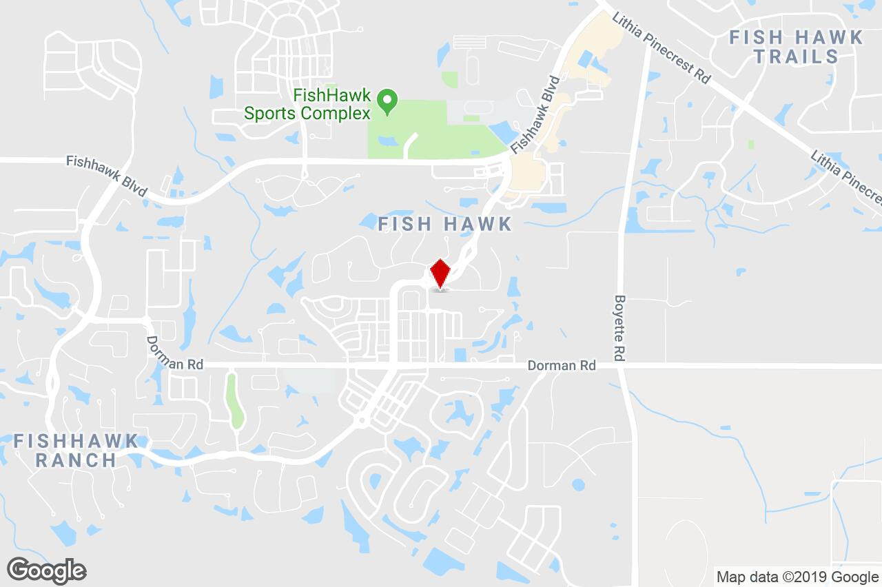 16301 Dunlindale Dr, Lithia, Fl, 33547 - Single-Unit (Sfr/condo - Lithia Florida Map