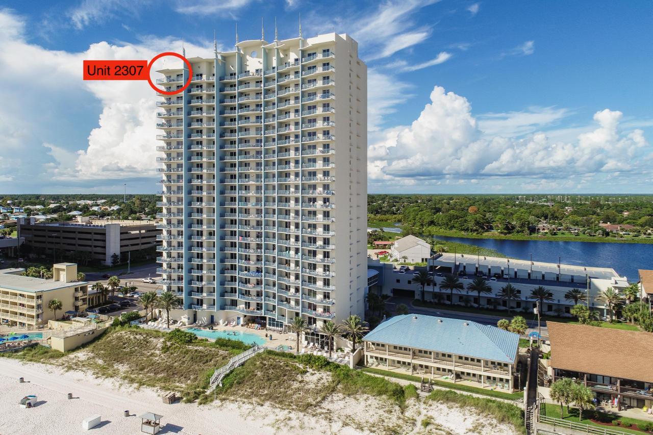 16701 Front Beach Rd #2307, Panama City Beach, Fl 32413 - Mls - Map Of Panama City Beach Florida Condos