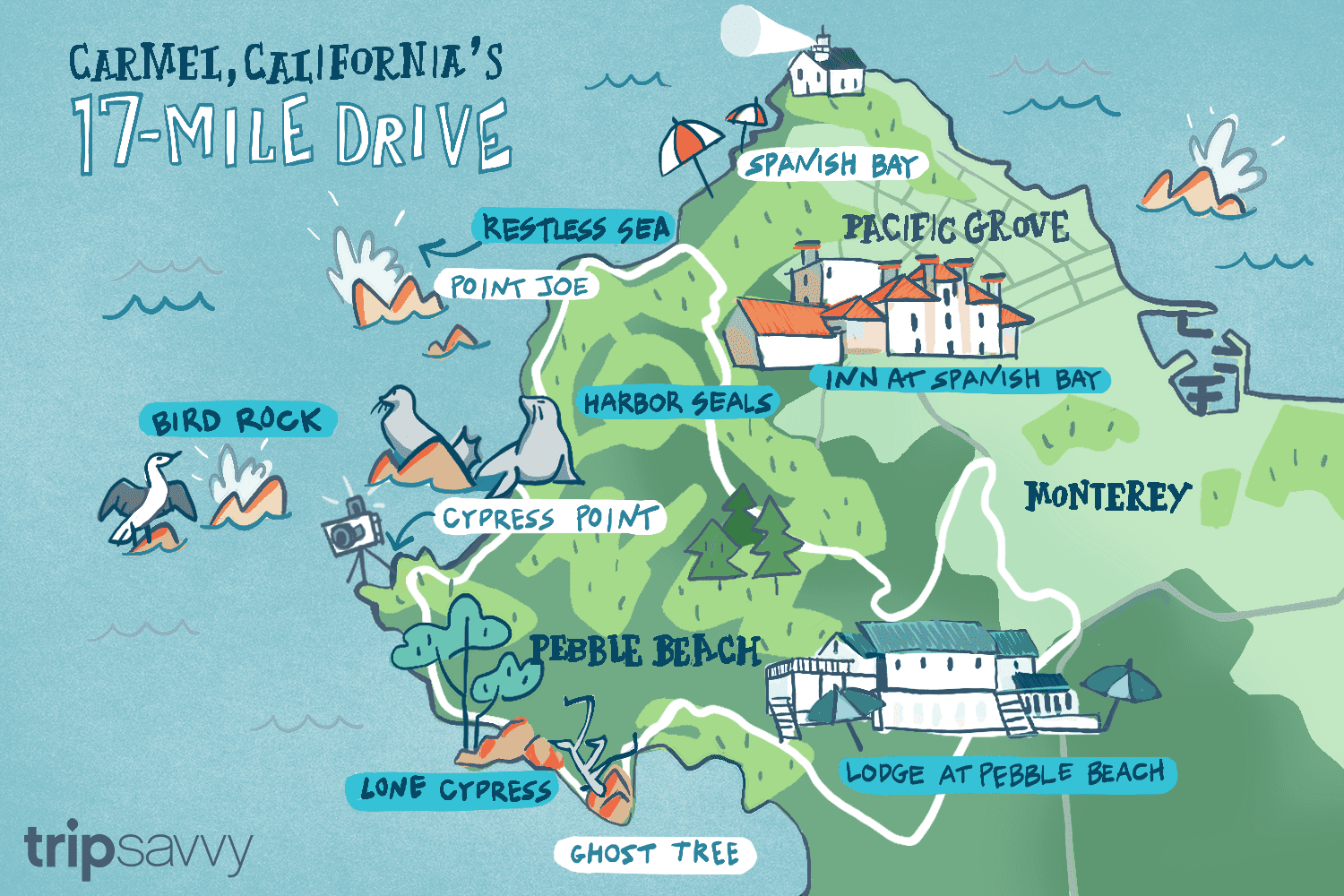 17-Mile Drive - Must-Do Stops And Proven Tips - Carmel California Map