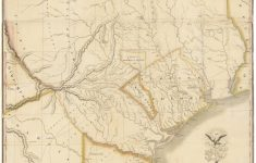 "1830 First Edition Of The Austin Map Of Texas: ""The Map Of Texas I – Antique Texas Map"
