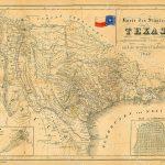 1849 Map Of Texas Old Texas Map, Texas, Map Of Texas, Vintage   Vintage Texas Map Framed