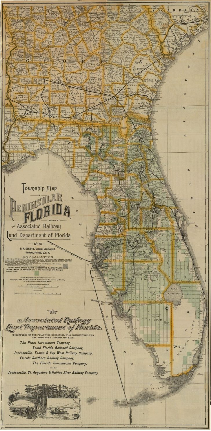 Florida Maps For Sale