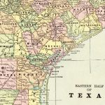 1900 Antique Texas Map Vintage Original State Map Of Eastern Texas   Vintage Texas Map