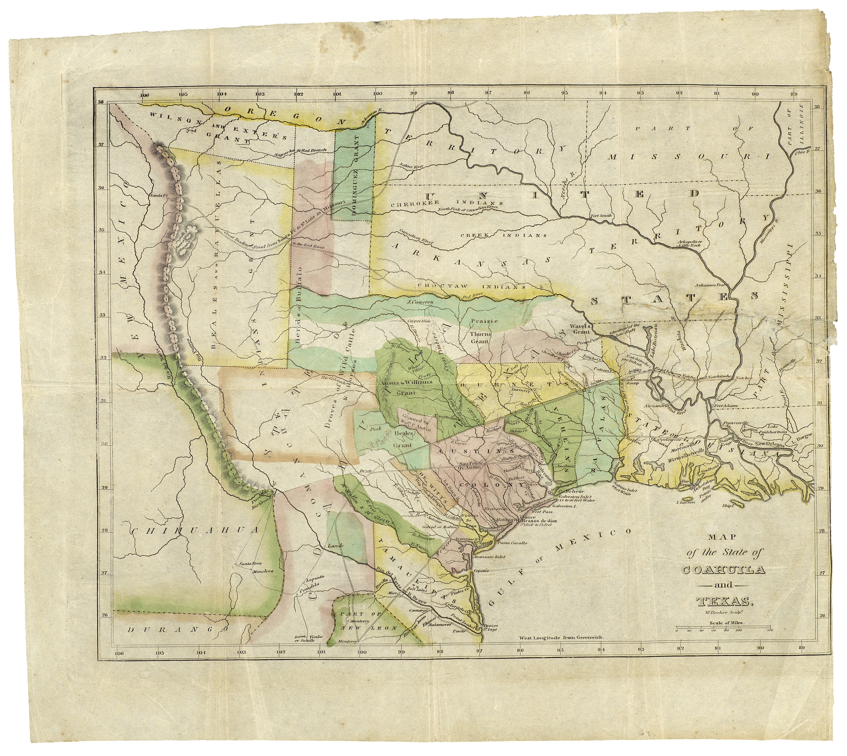 190Th Anniversary Of The Constitution Of The Free State Of Coahuila - Texas Land Office Maps