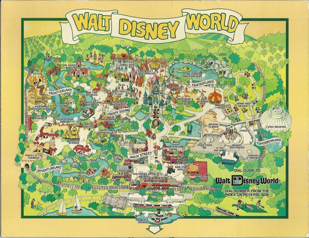 1980 Walt Disney World Dial Map | In August 1983 We Visited … | Flickr - Walt Disney Florida Map