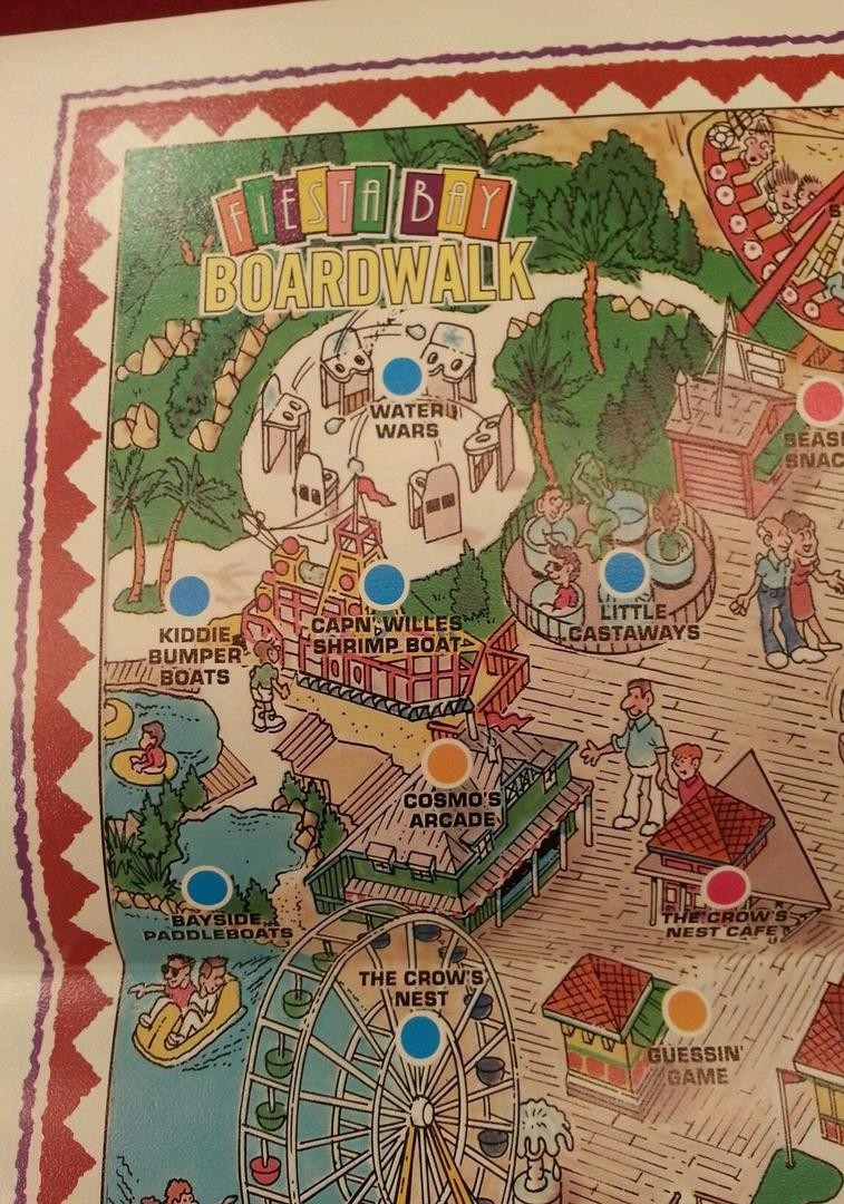 1994 Six Flags Fiesta Texas Theme Park Map San Antonio Not - Fiesta Texas Map