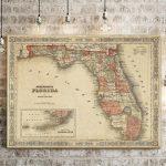 20 Best Collection Of Florida Map Wall Art   Florida Map Wall Art