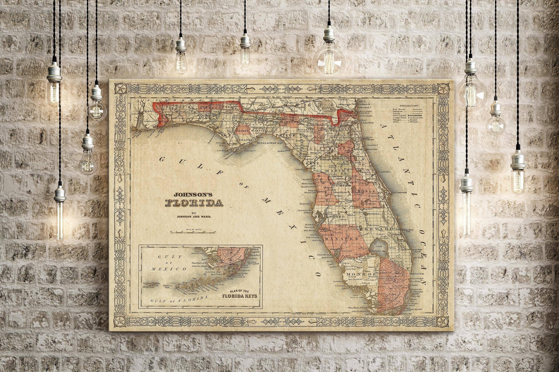 20 Best Collection Of Florida Map Wall Art - Florida Map Wall Art