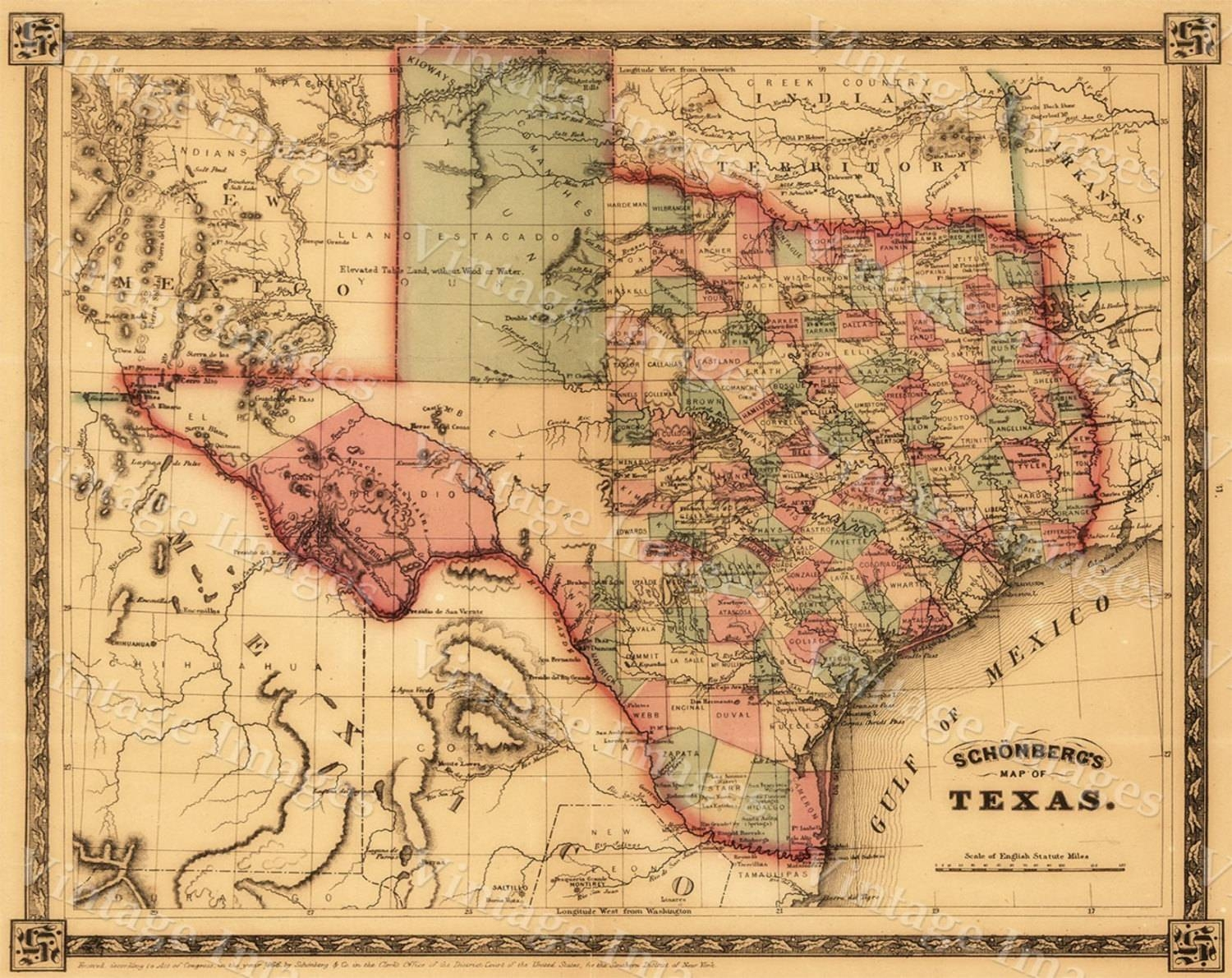20 Best Collection Of Texas Map Wall Art - Texas Map Wall Art