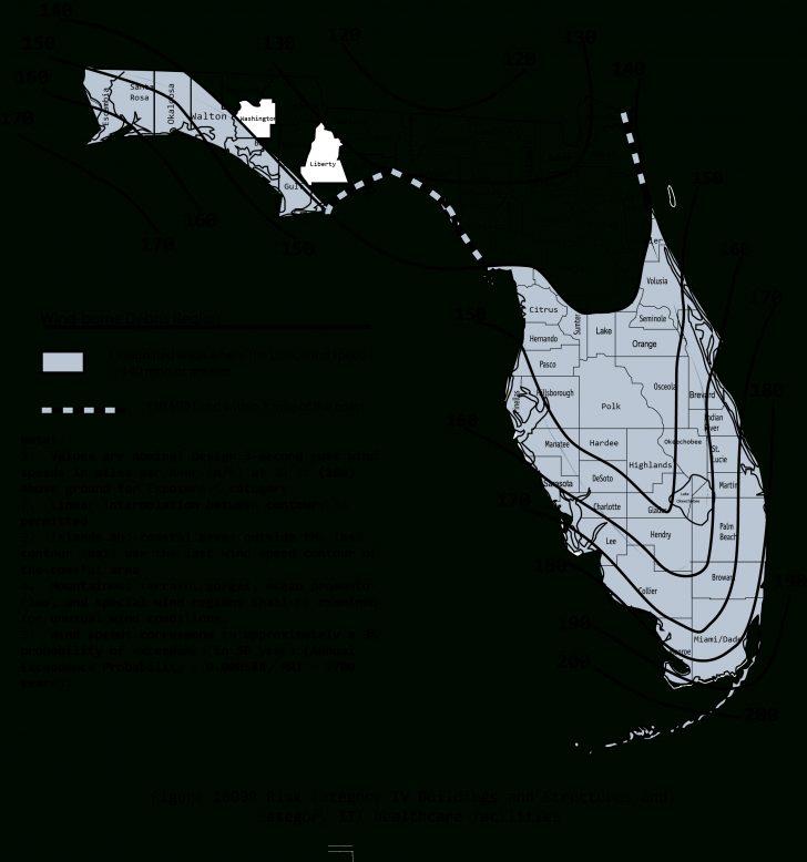 Florida Wind Speed Map