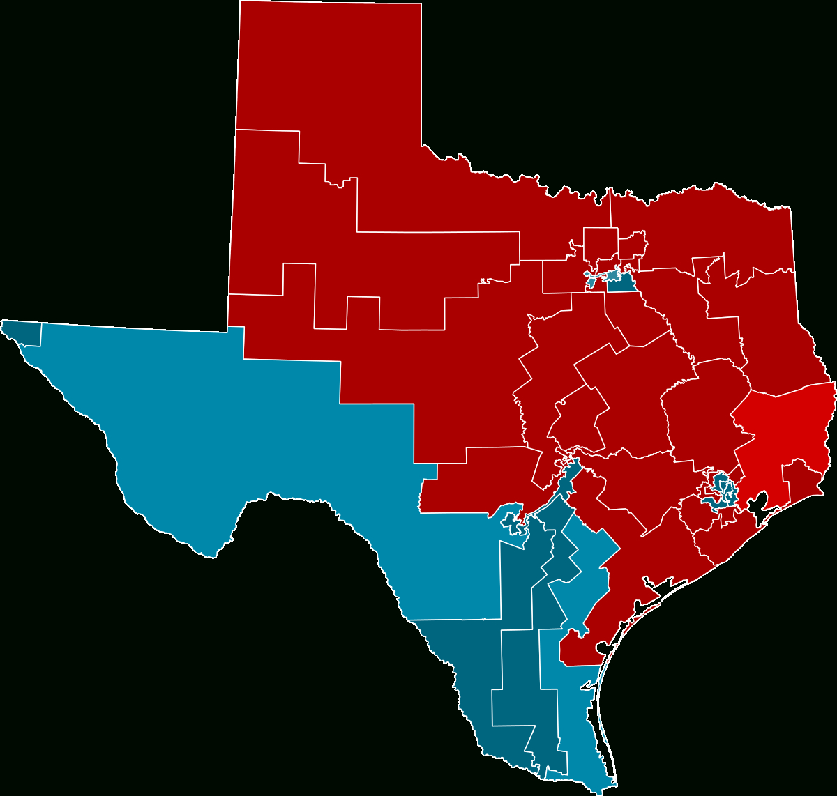 2012 United States House Of Representatives Elections In Texas - Texas Representatives District Map