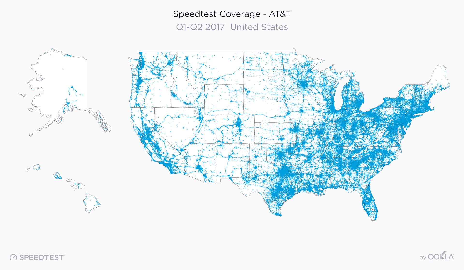 2017 United States Speedtest Market Report - At&t Coverage Map Texas