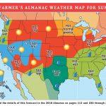 2018 Summer Weather Forecast   U.s. & Canada   The Old Farmer's Almanac   Florida Weather Forecast Map