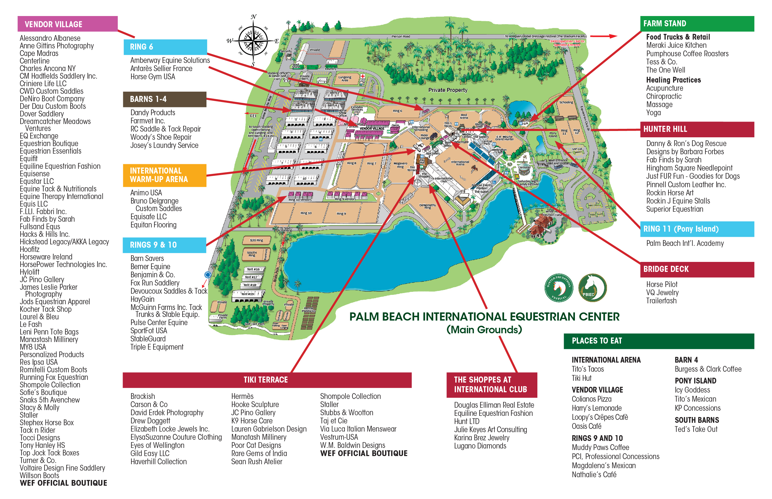 2018-Wef-Vendor-Map-2 - Wellington Equestrian Realty - Wellington Florida Map