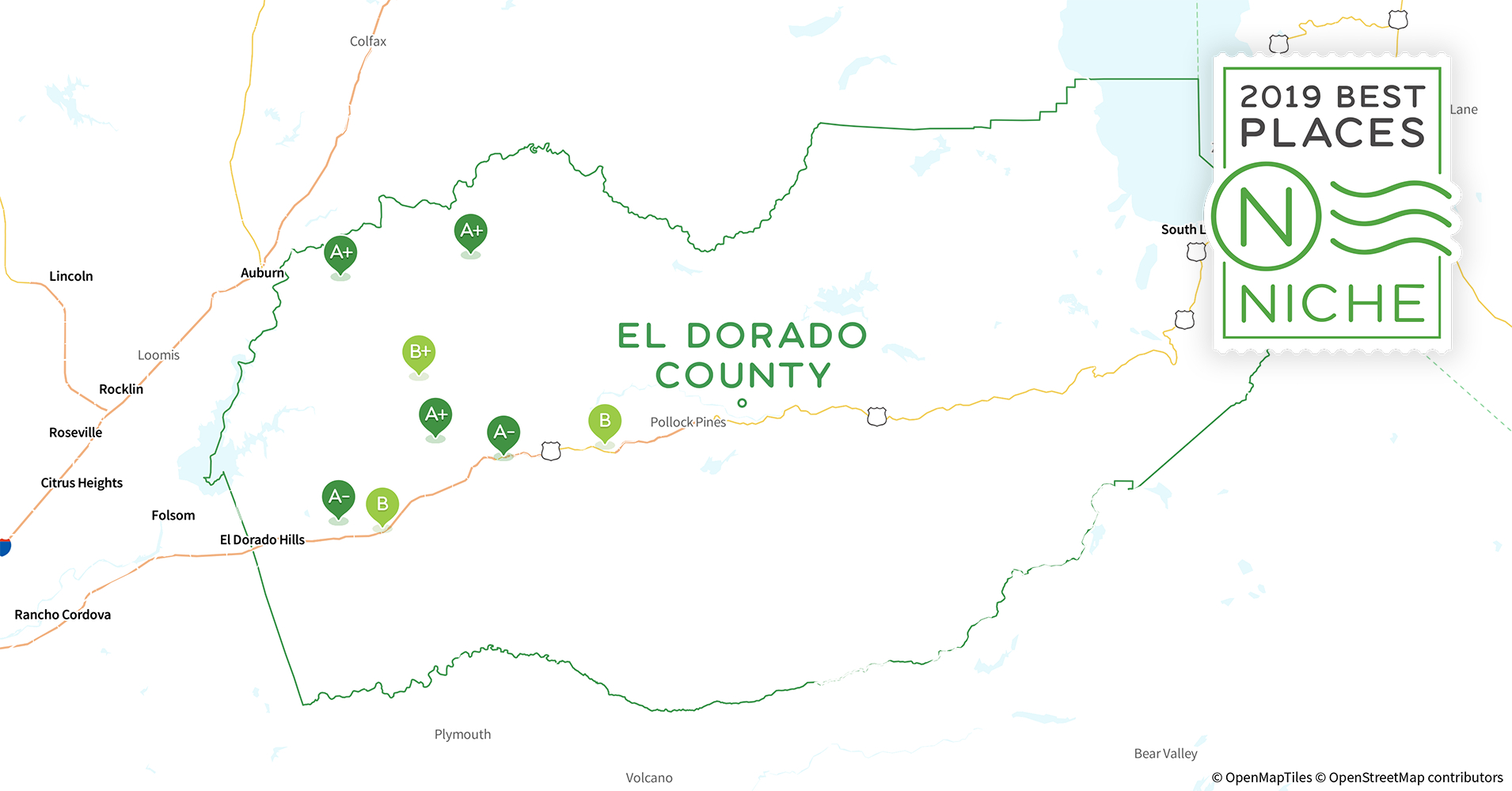 2019 Best Places To Live In El Dorado County, Ca - Niche - El Dorado County California Parcel Maps