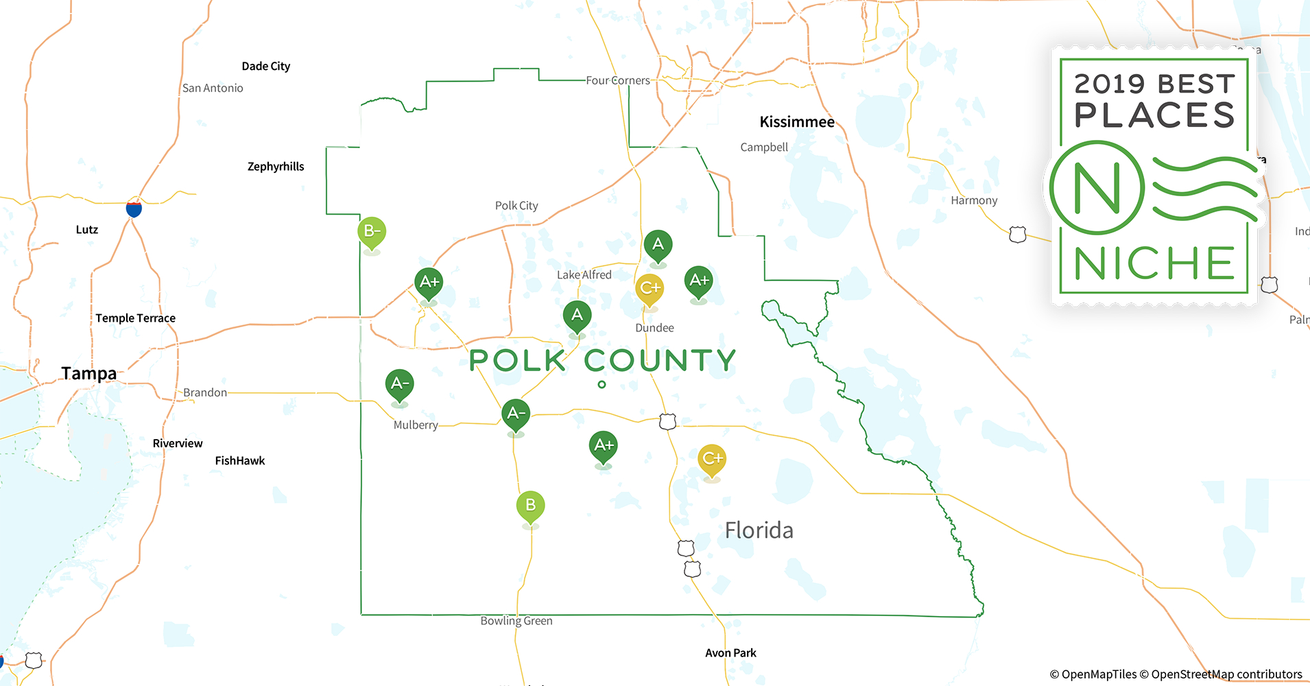 2019 Best Zip Codes To Buy A House In Polk County, Fl - Niche - Polk County Florida Parcel Map