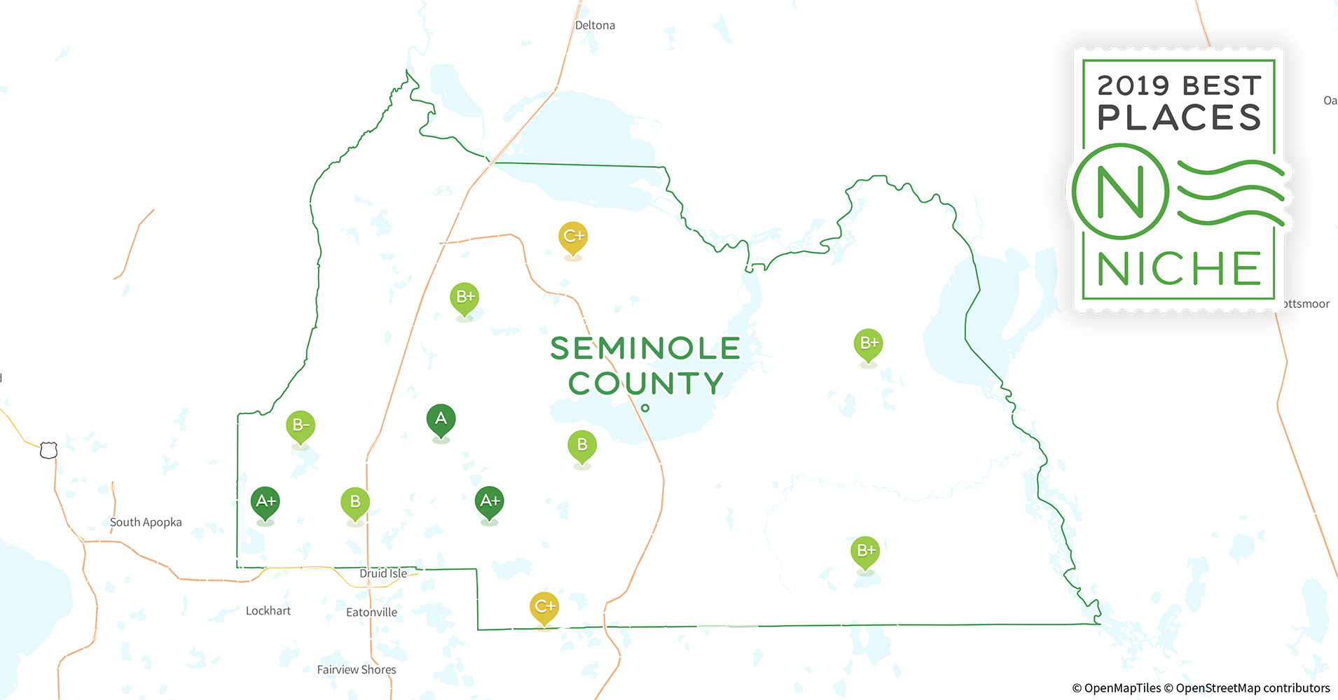 2019 Safe Places To Live In Seminole County, Fl - Niche - Map Of Seminole County Florida