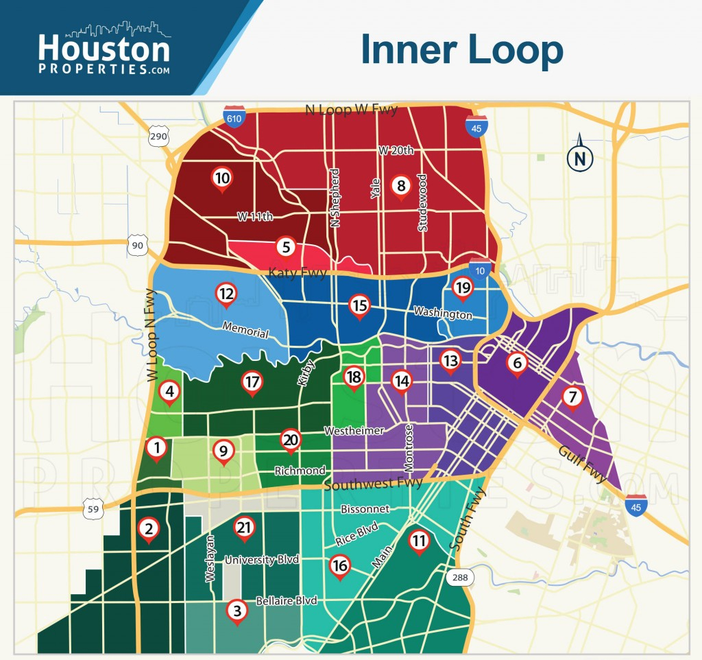 2019 Update: Houston Neighborhoods | Houston Map, Real Estate, Homes - Show Map Of Houston Texas