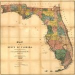 24X36 Vintage Reproduction Railroad Rail Train Historic Map Florida   Vintage Florida Map