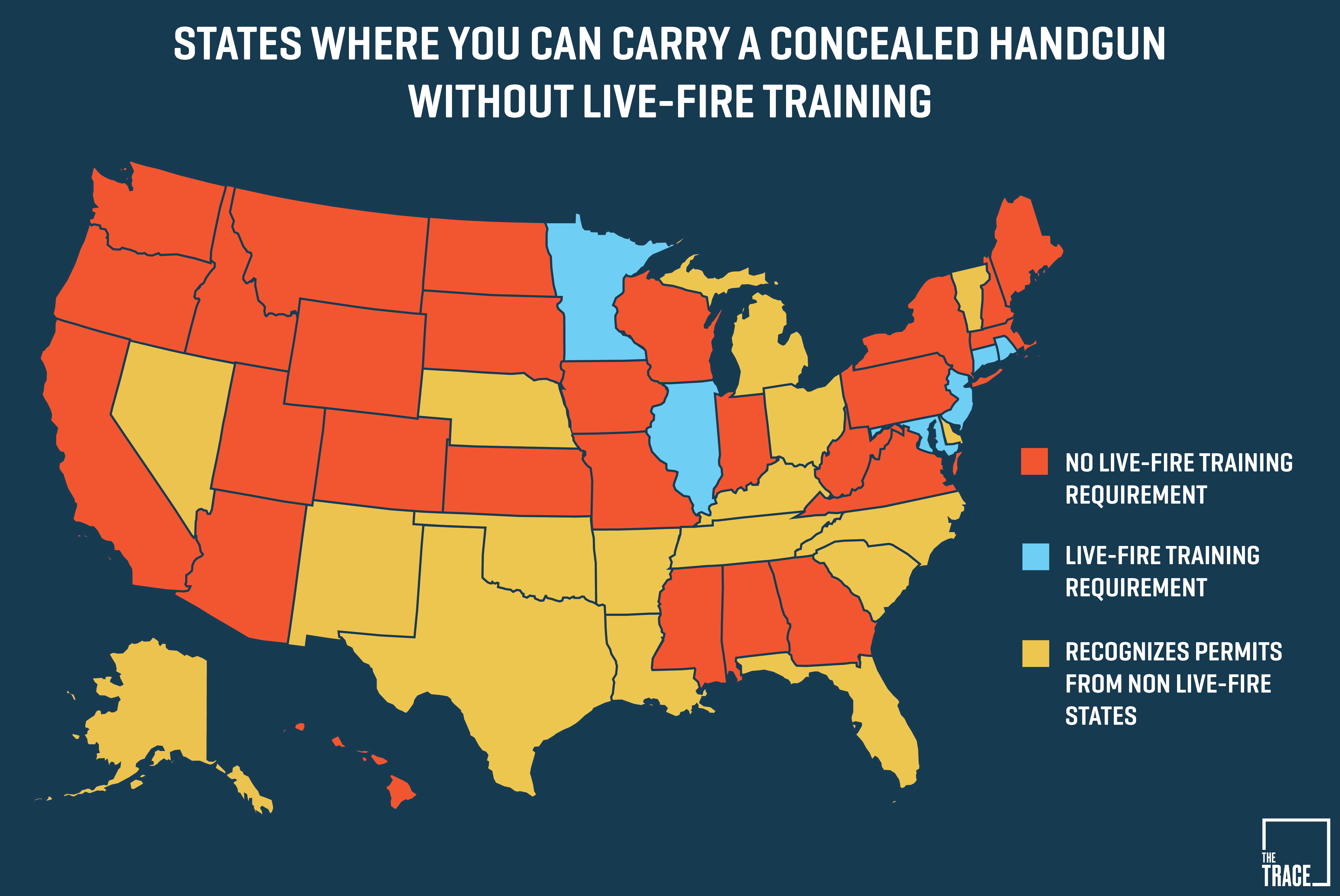 26 States Will Let You Carry A Concealed Gun Without Making Sure You - Florida Ccw Reciprocity Map 2018