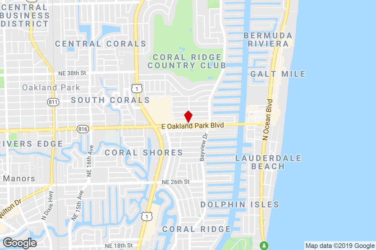 2685 E. Oakland Park Boulevard, Fort Lauderdale, Fl, 33306 - Street - Oakland Park Florida Map