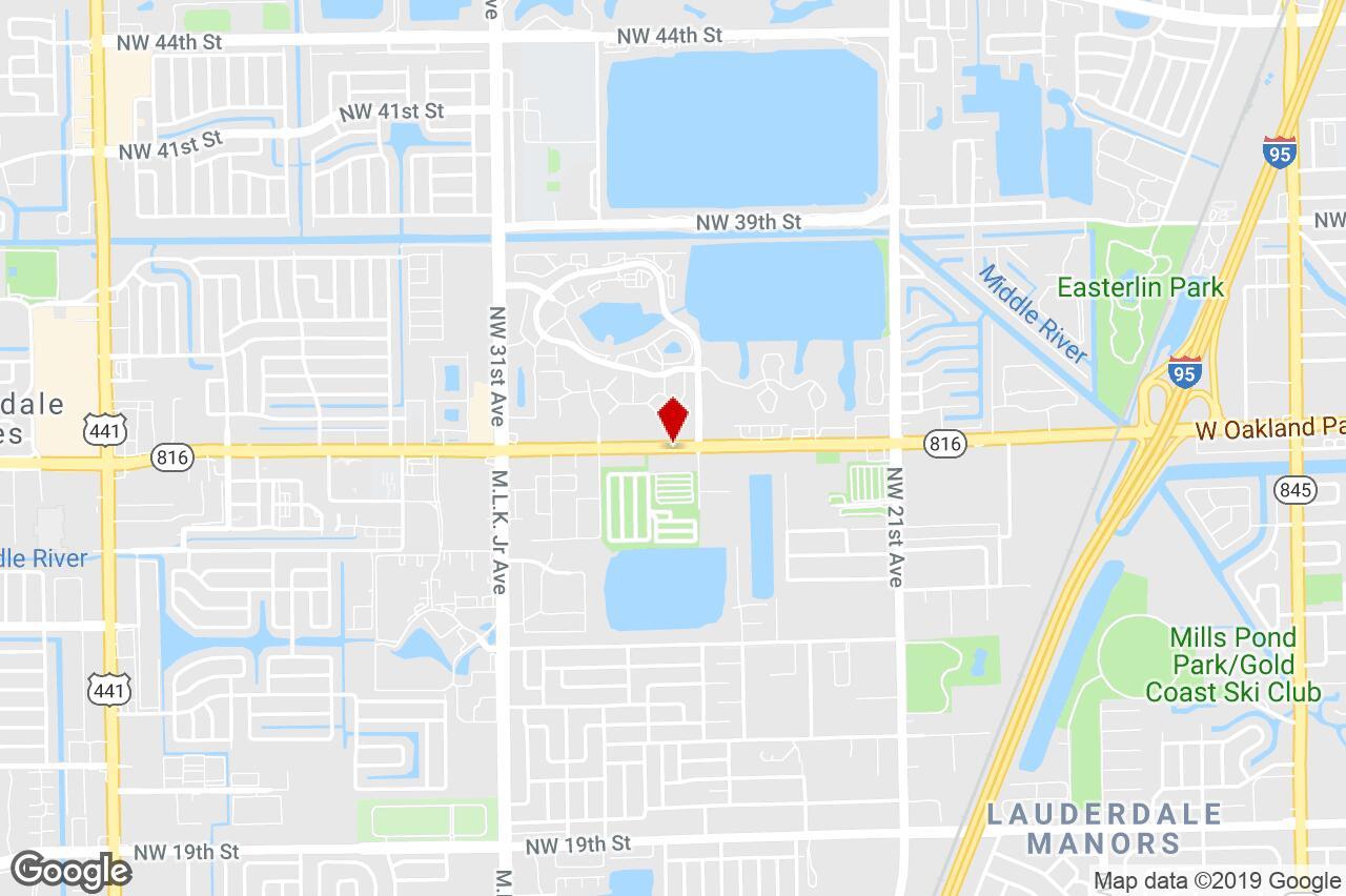 2750 W. Oakland Park Boulevard, Oakland Park, Fl, 33311 - Retail - Oakland Park Florida Map