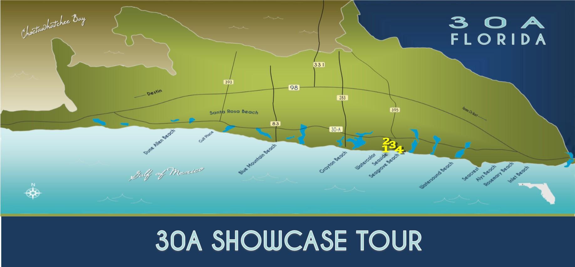 30A Beach Towns - 30A Florida Map