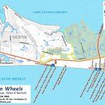 30A & Destin Beach Access   Destin Wheels Rentals In Destin, Fl   Sandestin Florida Map