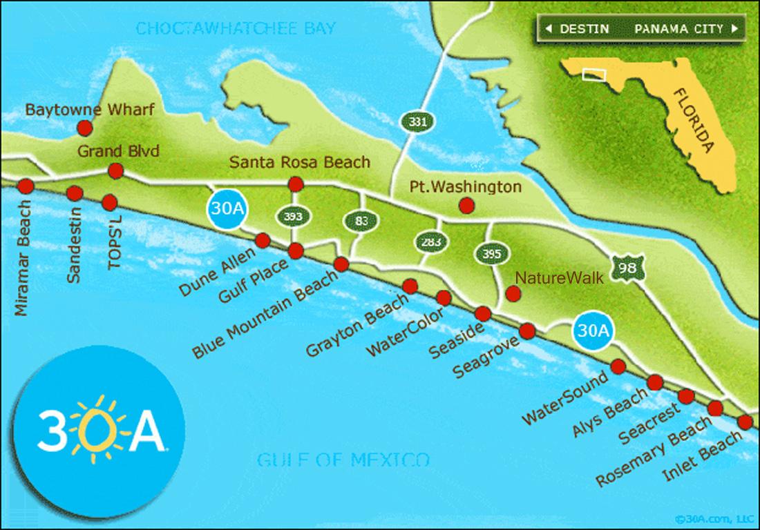 30A-Map - 30A - 30A Florida Map
