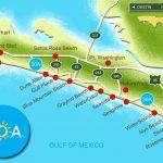 30A South Walton Interactive Map. Take A Virtual Tour Of The Beach   Seaside Beach Florida Map