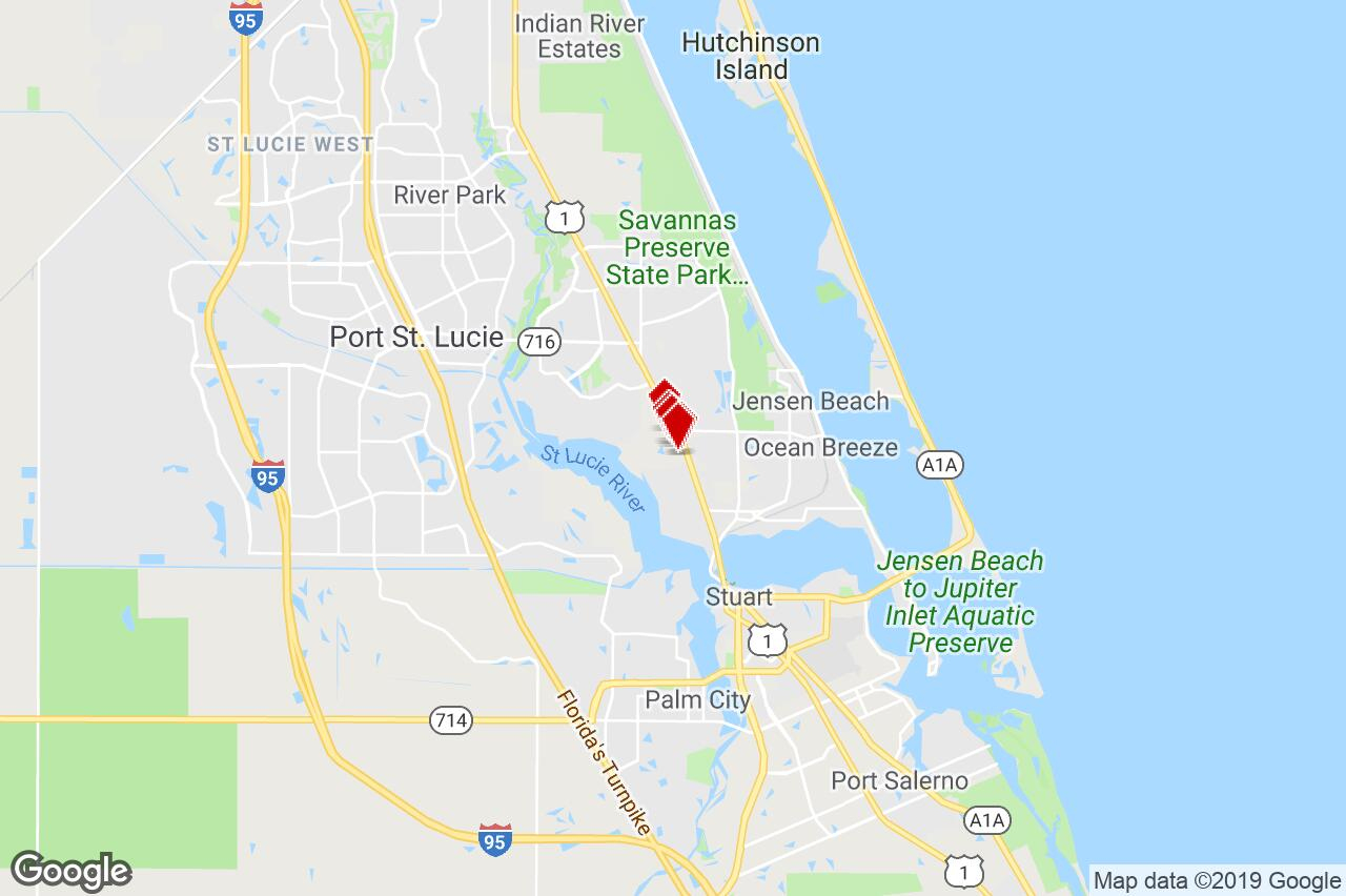 3174 Nw Federal Hwy, Jensen Beach, Fl, 34957 - Property For Lease On - Hutchinson Beach Florida Map