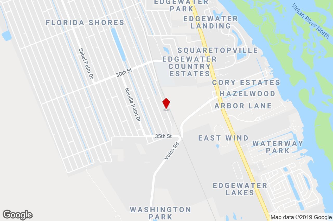 3315 India Palm Dr., Edgewater, Fl, 32141 - Duplex/triplex/fourplex - Edgewater Florida Map
