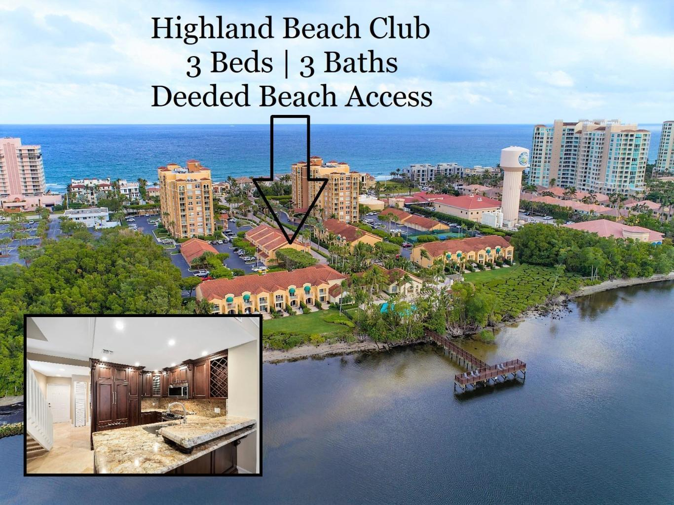 3596 S Ocean Blvd #108, Highland Beach, Fl 33487 - Mls Rx - Highland Beach Florida Map