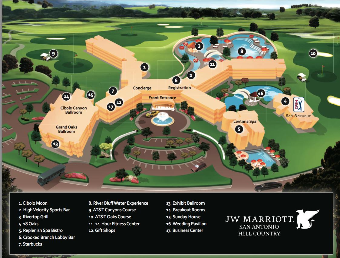 3D Jw Marriott Resort Map - Spa Girl Tri | Spa Girl Tri - Lost Pines Texas Map