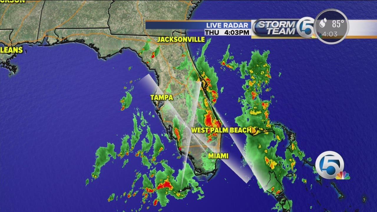 4 P.m. Thursday Weather Forecast For South Florida - Youtube - Florida Radar Map